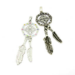 Wholesale custom metal alloy jewelry and dream catcher pendant necklace (dream catcher pendant)