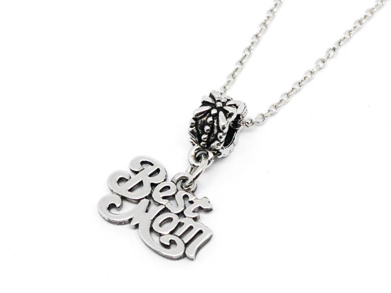 Custom blackwashed best mother gift necklace (letter pendant necklace)