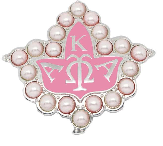 Metal alloy silver Greek AKA Brooch pins (aka sorority lapel pin)