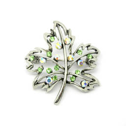 Wholesale Metal alloy Canada Rhinestone Maple Leaf brooch jewelry (china wholesale brooch)
