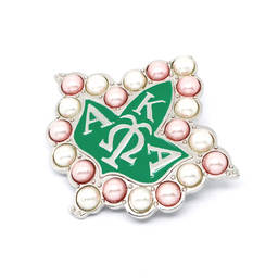 Greek Letters Alpha Kappa Alpha AKA Brooch for Custume Decoration(pearl brooch)
