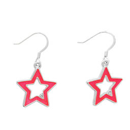 Fashion metal hollow star shaped drop earrings manufacturer (earring factory china)