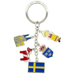 Wholesale custom countries related elements charms key ring (country keyring)