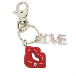 Fashion I love Red Lip Charms keychain for fashion lady (lip keychain)