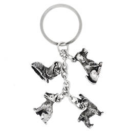 Custom wholesale alloy dogs pendants key ring manufacturer (dog keychain)
