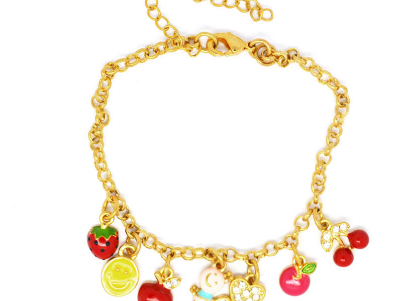 Gold plated adorable floating charms jewelry bracelets (fashion alloy charm bracelet)
