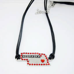 Custom made metal alloy sport team charms cord necklace (handcraft jewelry)