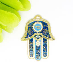 Israel hot sale wholesale factory enamel big hamsa hand pendant jewelry(handmade metal jewelry)