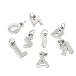 Simple custom Capital initial charms jewelry for bracelets(monogram jewelry)