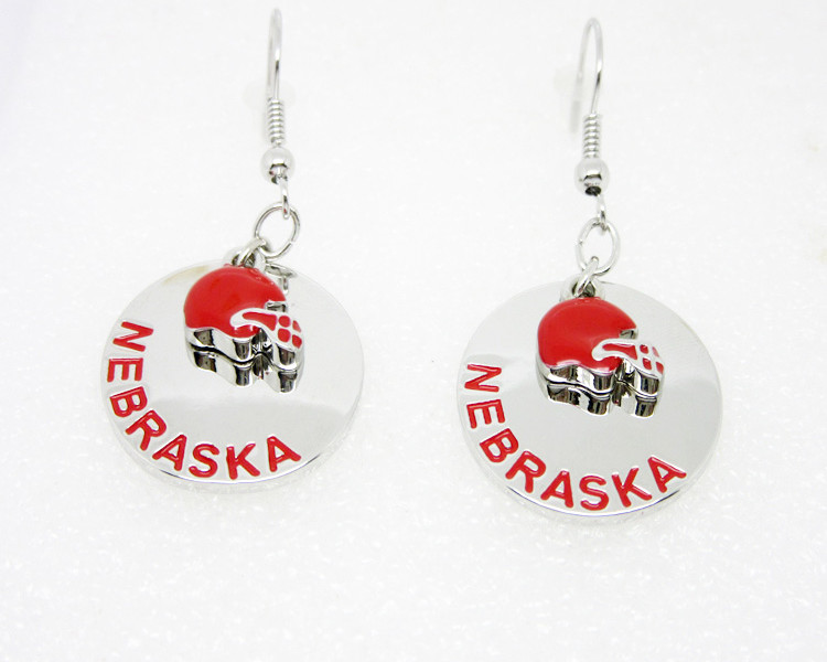 Wholesale football helmet enamel charms earrings jewelry(engraved jewelry)