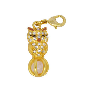 Wholesale clip on charms, cute sleepy 3D owl charms with clip manufacturers