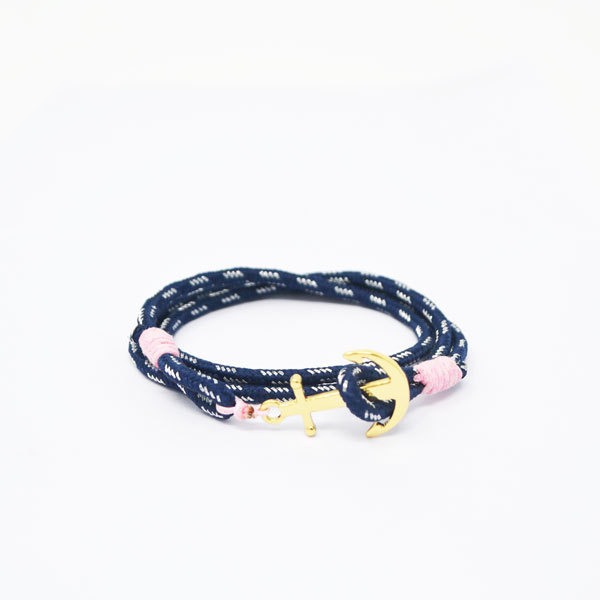 Wholesale men's handmade braided nautical anchor bracelet  (nautical rope bracelet)