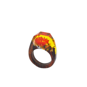 Fashion wood and resin rings exporters