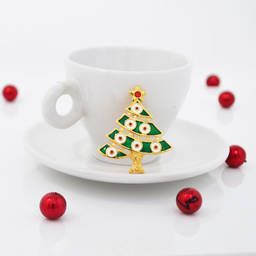 New arrival Custom design Amazon Metal Christmas tree brooches jewelry (christmas brooches)