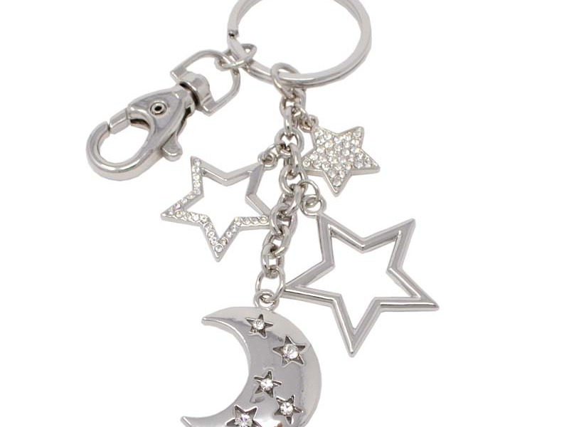 Fashion China made metal alloy stars charms keychain (customized key chain)