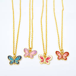 Simple design animal butterfly charm necklace jewelry (butterfly pendant necklace)