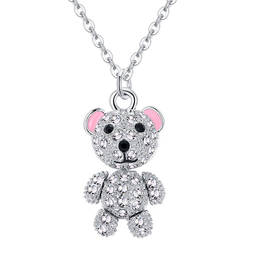 Movable Hands and feet cute teddy bear charm necklace (custom necklace pendants)