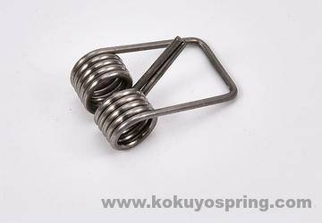 Double Twist Torsion Spring