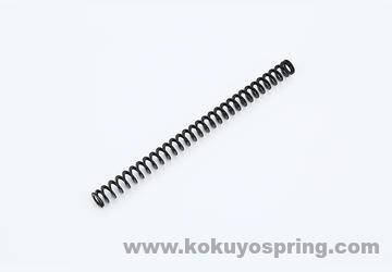 Flat wire compression spring