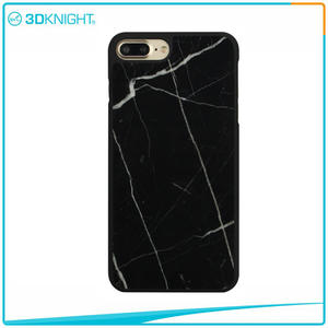 Handmade Black Marble Case For  IPhone 7 Plus Case,waterproof For IPhone 7 Plus Marble Case