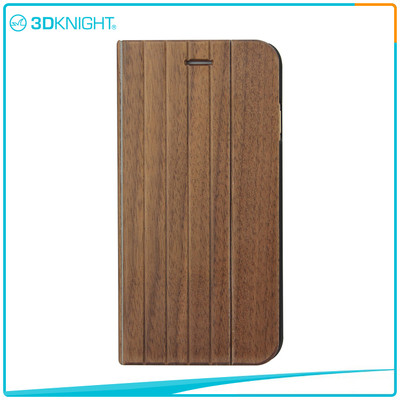 Hot Sale Quality Shock Proof Case For Iphone, Flip Wood iPhone Case