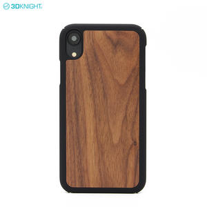 Custom Blank Engraving LOGO PC Wood Phone Cases Cover For Iphone XR