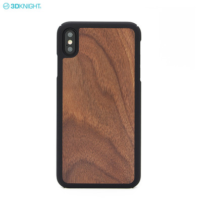 Shockproof Mobile Phone Accessories PC Edge Wood Phone Case For Iphone XS Max