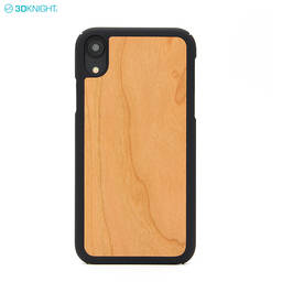 New Product Natural Real Cherry Wood Cell Phone Case For iPhone XR