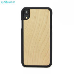 New Arrival 6.1 Inch Custom Logo Real Blank Wood Phone Case For iPhone XR