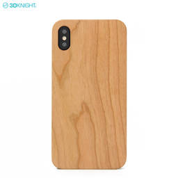 High Quality Real Solid Blank Chreey Wood Mobile Phone Case For iPhone XS Max
