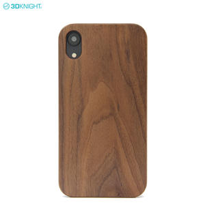 Eco friendly Design Wooden Back Sell Real Wood Phone Cover Case for iPhone XR