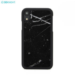 Fashion Engraving Printing Design Real Genuine Marble Phone Case for iPhone XR