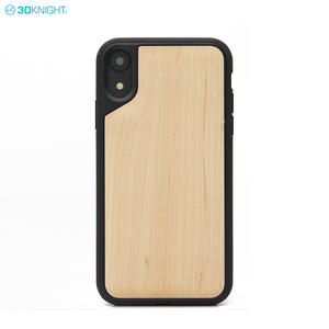 Latest Product 6.1 Inch Carved TPU Wooden Blank Cell Phone Case For iPhone XR