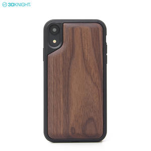 Fashion New Product Real Black 3D Wood Design Phone Case For IPhone XR