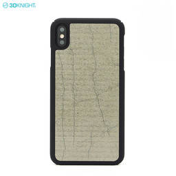 Luxury Natural Genuine Cement Pc Cell Phone Case for iPhone XS MAX