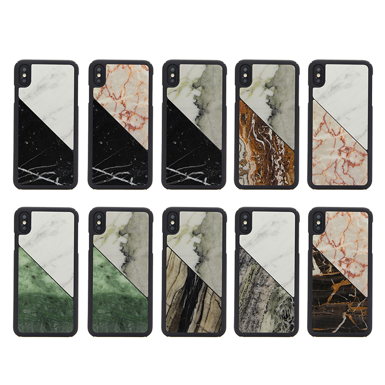 Handcraft Real Marble Drop-Proof Protective Cover Phone Case