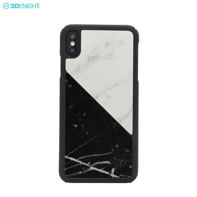 New Arrival Black and White Real Marble PC Phone Case for iPhone XS MAX