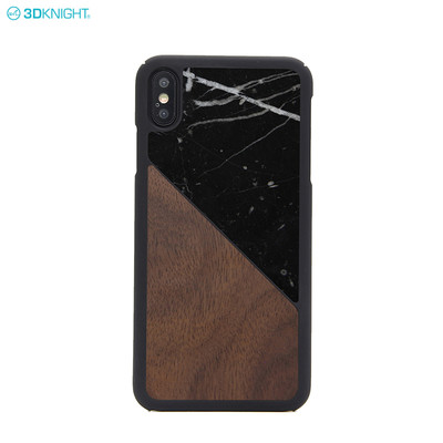 China Supplier Wholesale Wood Marble Mix Phone Case For iPhone XS MAX
