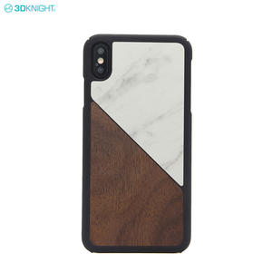 OEM Logo Luxury New Arrivals Marble Wood Phone Case For iPhone XS MAX