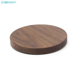 Walnut Handcraft Wooden Qi Fast Wireless Charger Charging Pad