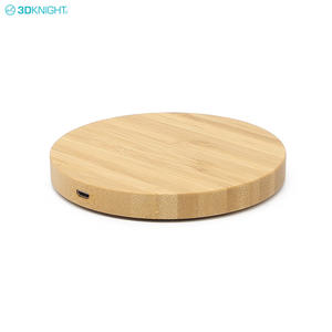 Custom Wooden Qi Wireless Mobile Phone Battery Chargers With FCC CE ROHS