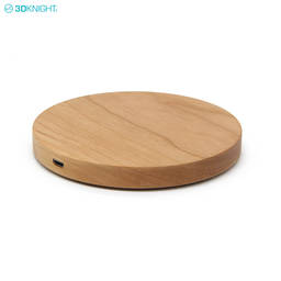 Hot Sale Portable Qi Wireless Charger Charging Wood Pad For Smart Phone