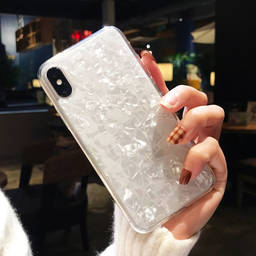 Pretty Sea Shell Design Clear TPU Cover Phone Case for iPhone X XR XS MAX