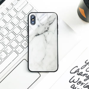 Luxury Marble Different Pattern Tempered Glass Phone Case For Iphone X XR XS MAX