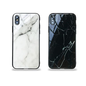 Custom Luxury Black White Marble Mobile Cover Phone Case for iPhone 7 8 Plus
