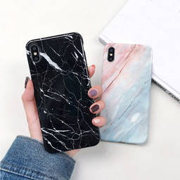 Fashion Print Imd Marble Pattern soft Tpu Cell Phone Case for Iphone X Xr Xs Max