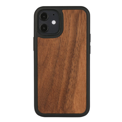 3D Knight Protective Walnut Wood Iphone 12 CaseThick TPU Bumper with Microfiber For Iphone12 Pro Max