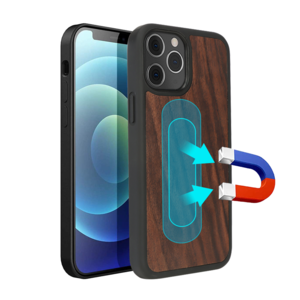 3D Knight Wood Magsafe Phone Case Thick TPU Bumper with Magnet and Microfiber For Iphone12 Pro Max