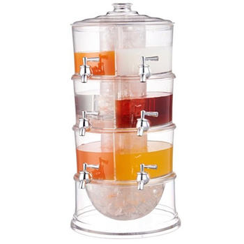 Dispensador de bebidas 3-layer, distribuidor de suco itemprop =