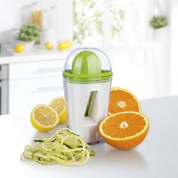 Spiral slicer atq; aurei interjacentem Juicer itemprop 2 in 1 vegetabilis =
